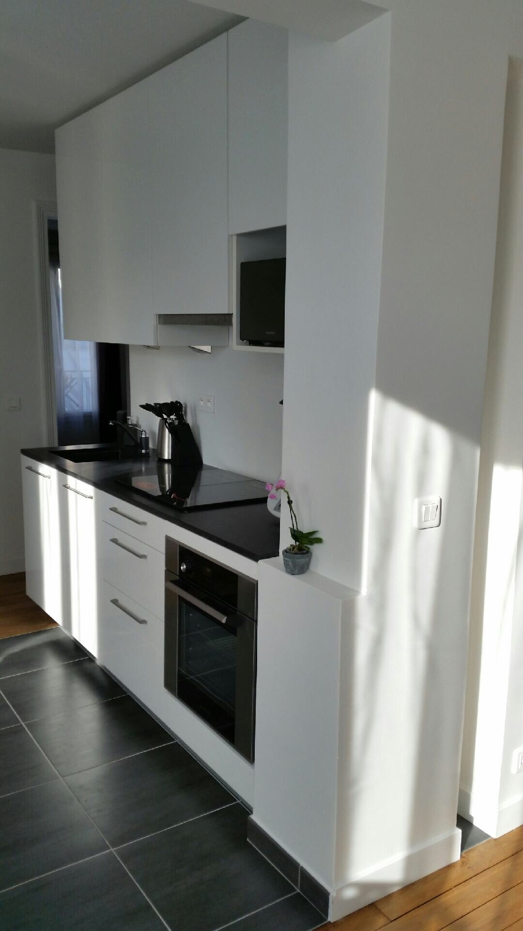 R novation d un appartement paris 17 me r novation for Cuisine ouverte sejour 40m2